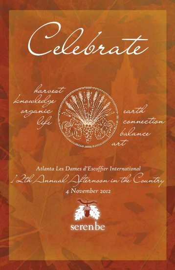 the 12th Annual Afternoon in the Country! - Les Dames d'Escoffier ...
