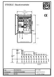 STEIDELE - Baustromverteiler - Steidele Stromverteiler
