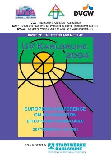 EUROPEAN CONFERENCE ON UV RADIATION