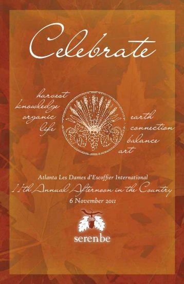 the 11th Annual Afternoon in the Country! - Les Dames d'Escoffier ...