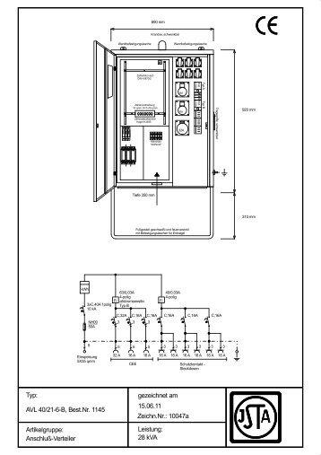 AVL 40/21-6-B - Steidele Stromverteiler