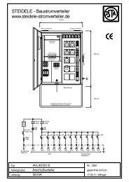 AVL 80/321-6 - Steidele Stromverteiler