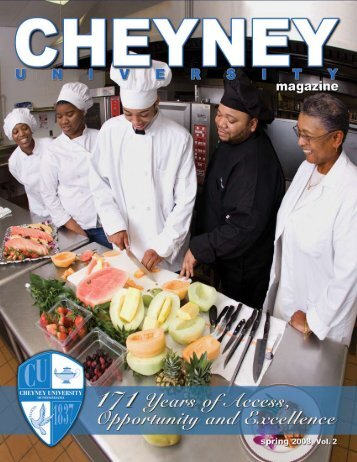 Spring 2008, Vol. 2 - Cheyney University of Pennsylvania