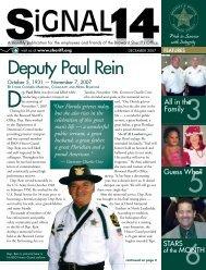 Deputy Paul Rein - Broward Sheriff's Office