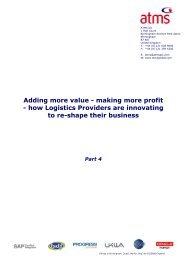 Adding more value - making more profit - how Logistics Providers ...
