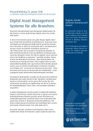 Digital Asset Management Systeme für alle Branchen. - picturesafe.de