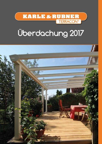Katalog Terracon Überdachungen 2017