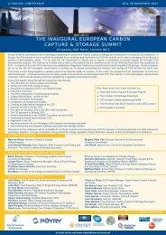 the inaugural european carbon capture & storage summit