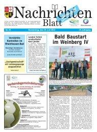 Nachrichtenblatt Nr. 29 vom 19. Juli 2012 - Verbandsgemeinde ...