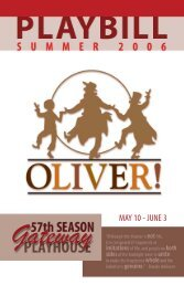 Download the Oliver! Playbill - Gateway Playhouse