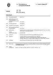 (12) Oversettelse av europeisk patentskrift - Patentstyret
