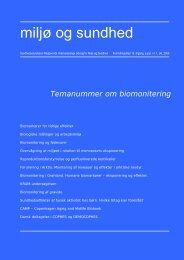 Temanummer om biomonitering - Sundhedsstyrelsens RÃ¥dgivende ...