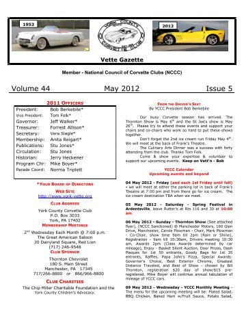 nccc official flyer outline york county corvette club