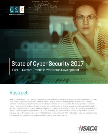 State of Cyber Security 2017
