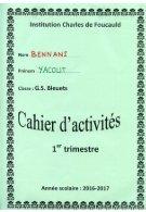 Cahier de vie Yaqout - Page 2