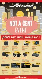 DON'T PAY UNTIL 2018 O.A.C.!