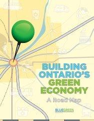 Building Ontario's Green Economy - Blue Green Canada