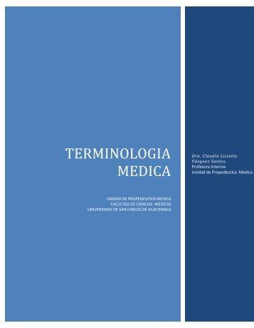TEMINOLOGIA MEDICA.