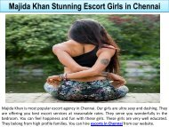 Majida Khan Stunning Escort Girls in Chennai