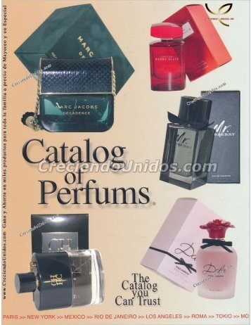 #539 Catalog of Perfums Catalogo de Perfumes originales por Mayoreo