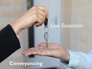 Conveyancing - Law Essentials
