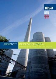 RisøNyt No. 2 2007 - Nano•DTU - Danmarks Tekniske Universitet