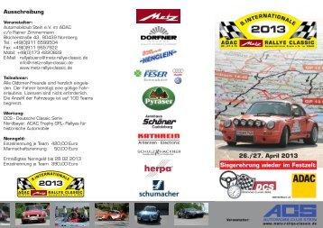 2013 - Metz Rallye Classic