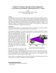 Robotic UV Curing for Automotive Exterior Applications - UV Robotics