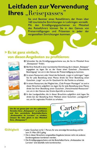Reisepasses Lothringen - Tourisme en Lorraine