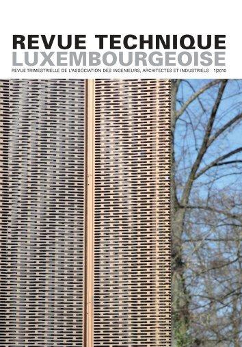 pdf RT 01 | 2010 - Revue Technique Luxembourgeoise