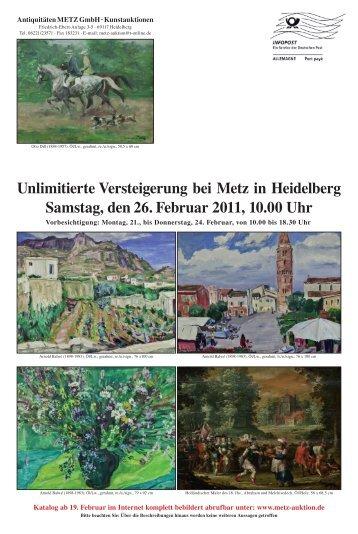 Unlimitierte Versteigerung bei Metz in Heidelberg Samstag, den 26 ...