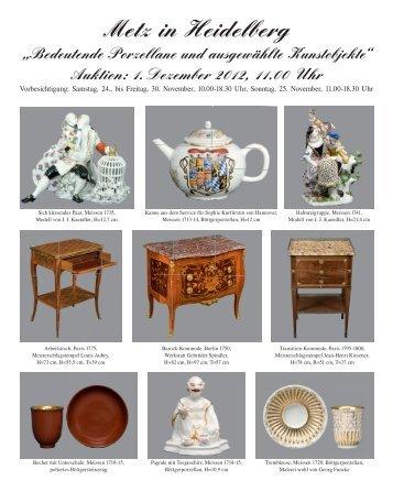 137. Unlimitierte Auktion, Samstag, 8. Dez. 2012, 10.00 Uhr