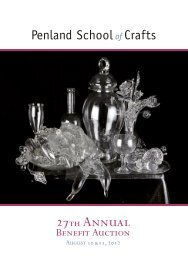 PDF of the complete auction catalog - Penland School of Crafts