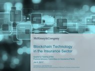 Blockchain Technology in the Insurance Sector