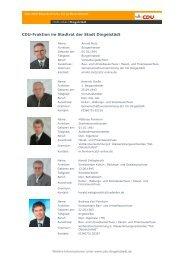 Eine Aufstellung der Stadträte als pdf-Datei zum - CDU Dingelstädt