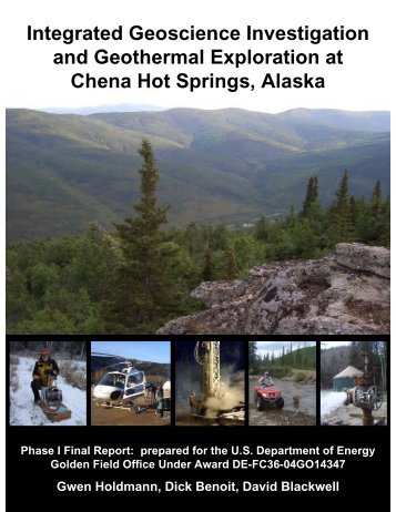 Integrated Geoscience Investigation and Geothermal Exploration at ...