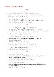 Schriftenverzeichnis Prof. Dr. H. Elias