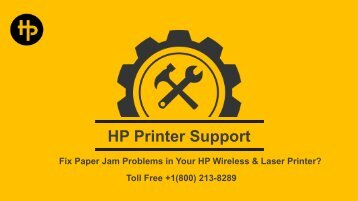 Fix Paper Jam Problems in Your HP Wireless & Laser Printe