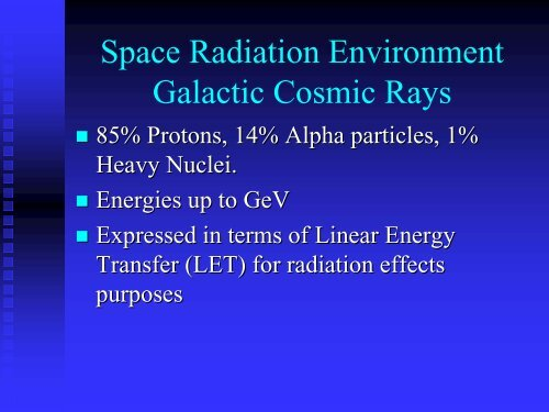 Space Radiation Effects in Electronic Components. - Esa