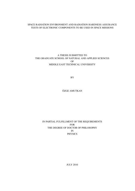 space radiation environment and radiation hardness assurance ...