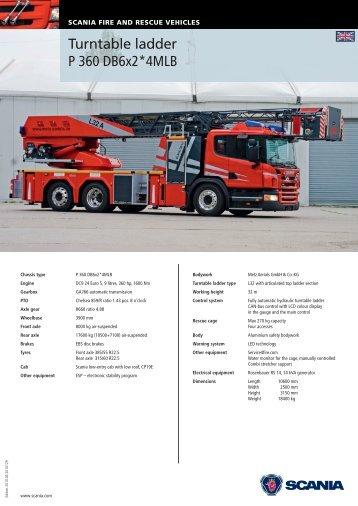 Turntable ladder - Scania