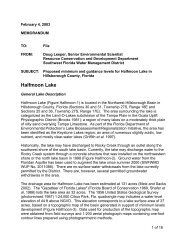 Halfmoon Lake - Southwest Florida Water Management District