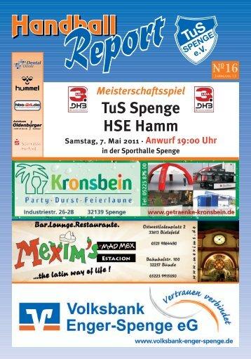 Handball in Spenge – Freunde & Partner sind dabei! - TuS Spenge