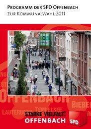 Programm der SPD- Offenbach zur Kommunalwahl 2011 - Version