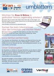 Kran & Bühne, Juni/Juli 2006: Feuerwehr und THW - Vertikal.net