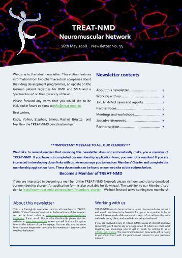 TREAT-NMD Newsletter No.33.pub