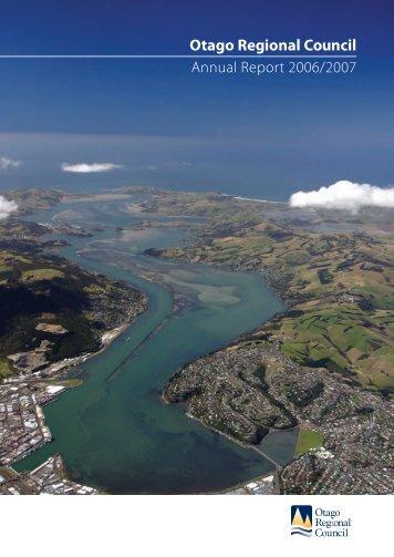 2007 Annual Report (PDF - 750Kb - Otago Regional Council