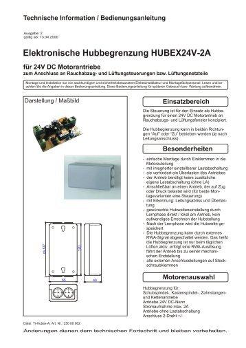 Elektronische Hubbegrenzung HUBEX24V-2A - STG-Beikirch