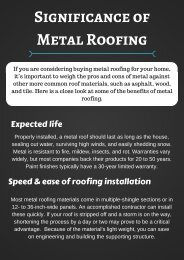 Significance of Metal Roofing
