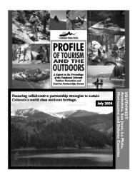 southwest reg profile final draft website - Colorado State Parks